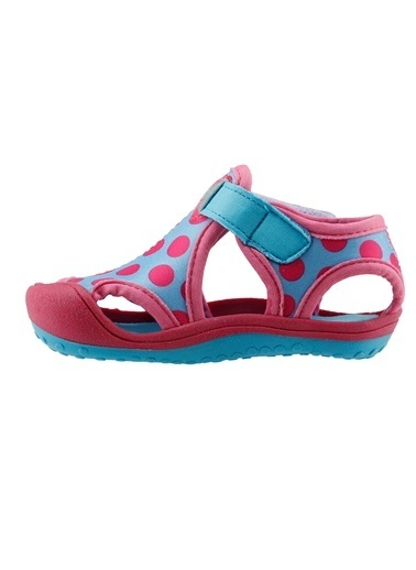 Ayakland Ayakland Kids Puantiyeli Aqua Kız Çocuk  Sandalet Panduf Ayakkabı Turkuaz